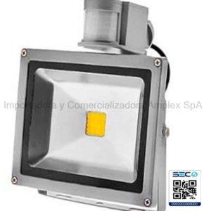 Proyector de Area Led 30W sensor PIR Certificado SEC 220v