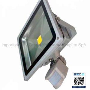 Proyector de Area Led 50W sensor PIR Certificado SEC 220v